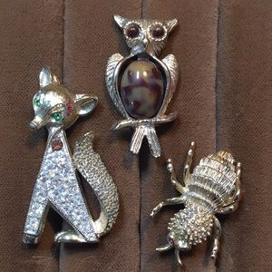 😻 2 for $13 Set of 3 Forest Animal Brooches